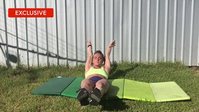 Celeste Dixon's home abs workout