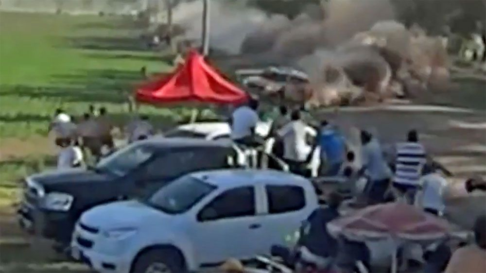 Distressing footage emerges of rally crash