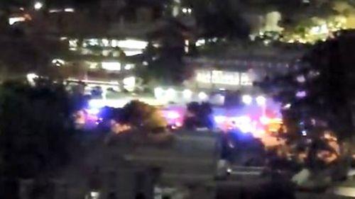 Emergency vehicles outside Westmead Hospital.