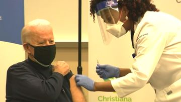 President-elect Joe Biden received his first dose of the coronavirus vaccine on live television as part of a growing effort to convince the American public the inoculations are safe.