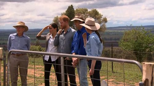 "The young royals were ""very interested"" in the toll the drought had taken on local farmers."