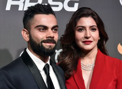 Indian Cricketer Virat Kohli and Bollywood actress Anushka Sharma.