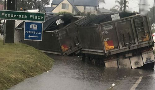 Despite warnings not to drive through flood waters, some motorists were caught out by sudden flash flooding.