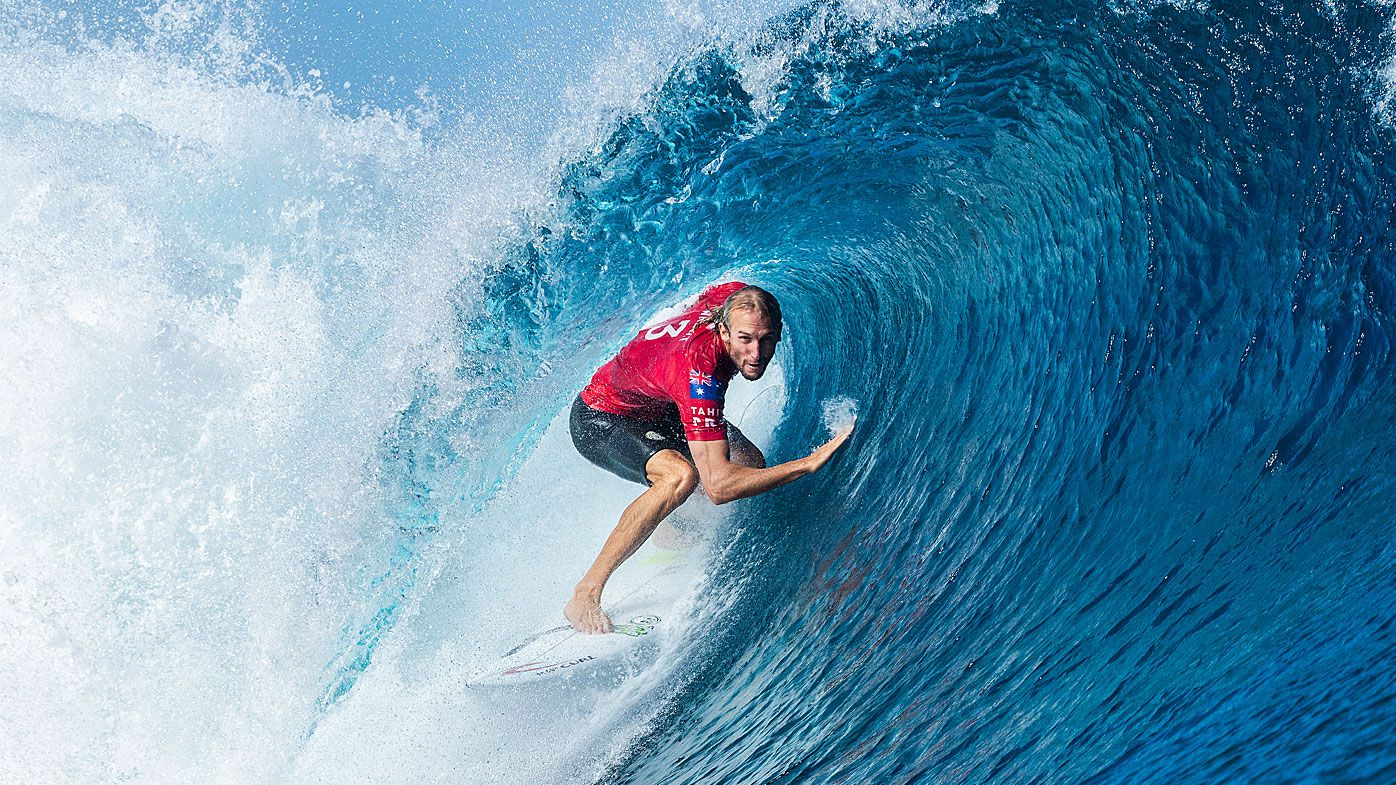Australian surfer Owen Wright at the Tahiti Pro Teahupo'o
