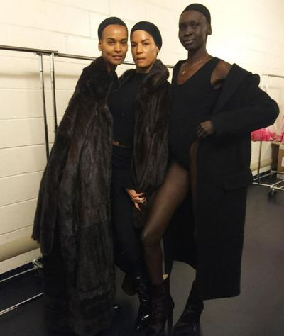 Joining Naomi Campbell in the show were Alex Wek and Liya Kebede.