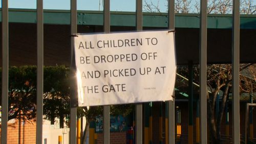 A sign outside Greenway Park Public School.