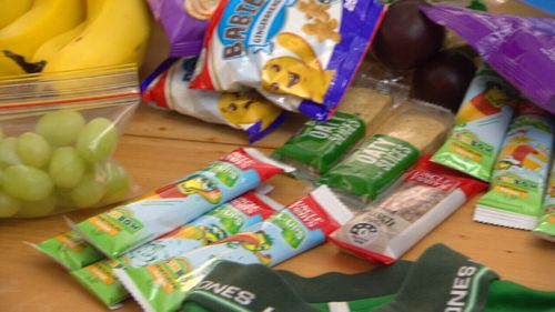 Buying snacks in bulk can help save money.