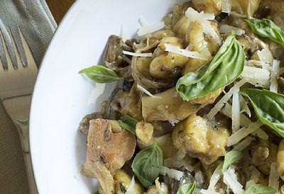 Mushroom and hazelnut gnocchi
