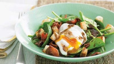 "<a href=""http://kitchen.nine.com.au/2016/05/13/11/24/bacon-egg-and-spinach-salad"" target=""_top"">Bacon egg and spinach salad</a> recipe"