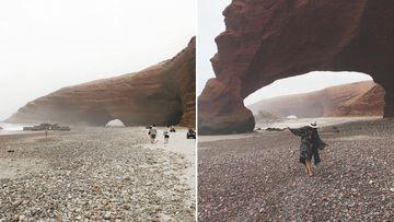One of the Legzira beach arches. (Instagram/ba3ksy/beatnikgirl)