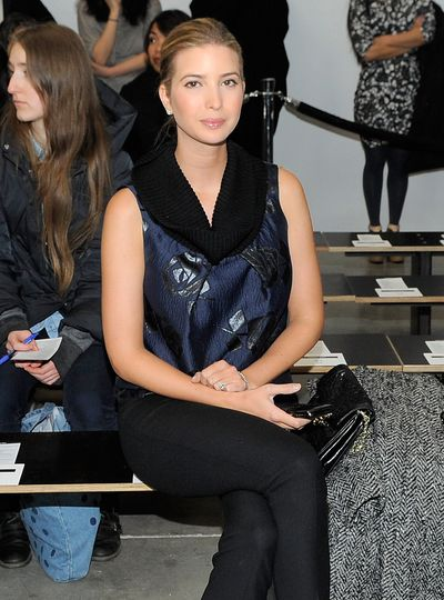 Ivanka Trump attend Kimberly Ovitz autumn/winter '12 show, New York Fashion Week