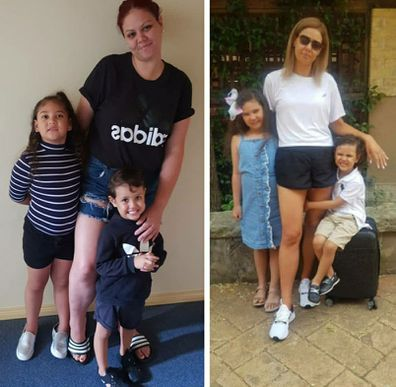 Sydney mum Fa'asega Vandermade 42kg weight loss before and after with kids