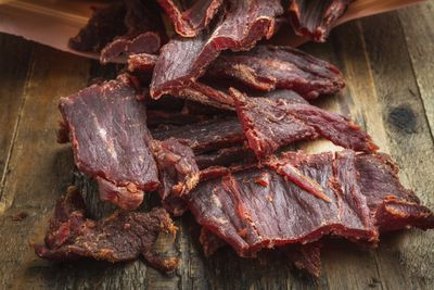 <strong>Low-sodium beef jerky</strong>