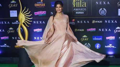 Bollywood actress Alia Bhatt at the 20th International Indian Film Academy (IIFA) Awards in Mumbai, September 2019.