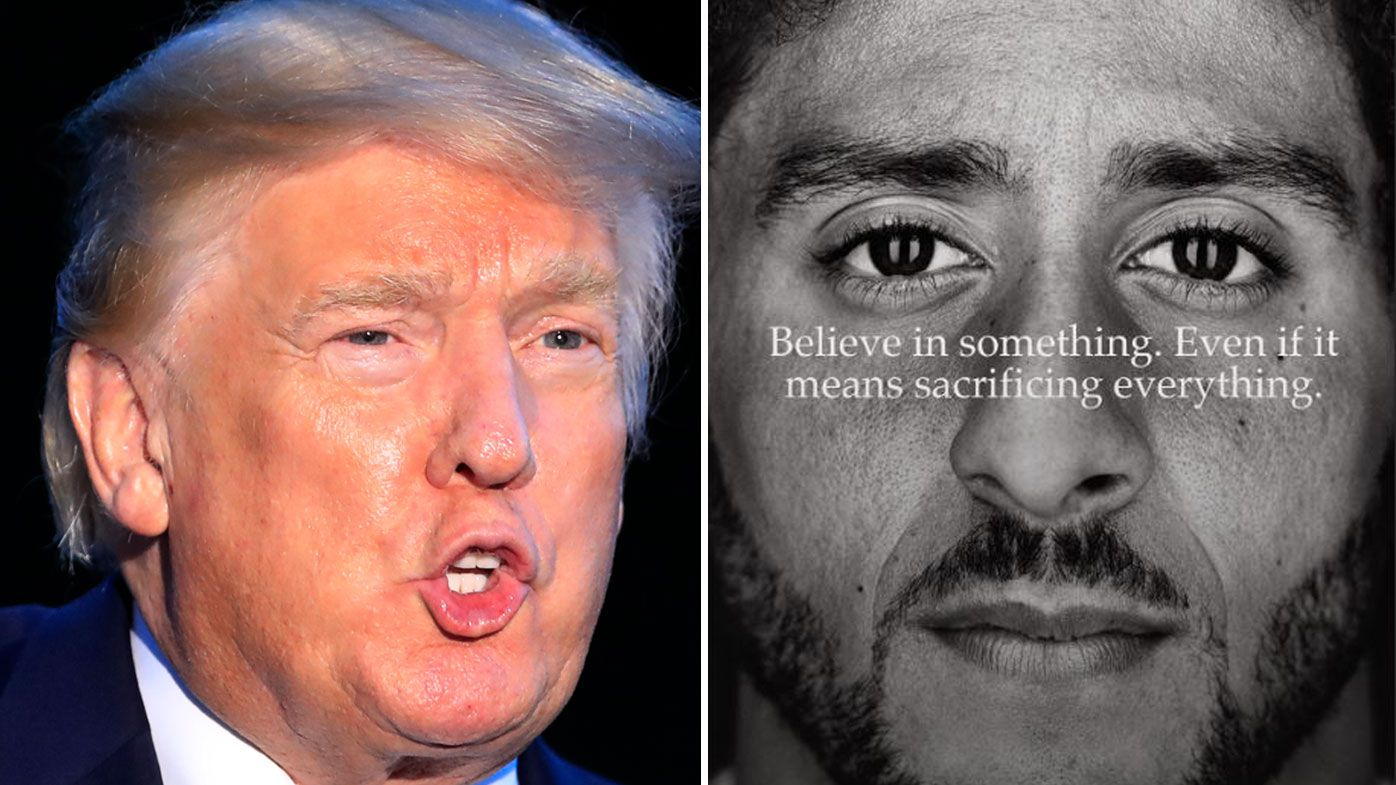 Donald Trump slams Nike over Colin Kaepernick 'Just Do it' anniversary campaign