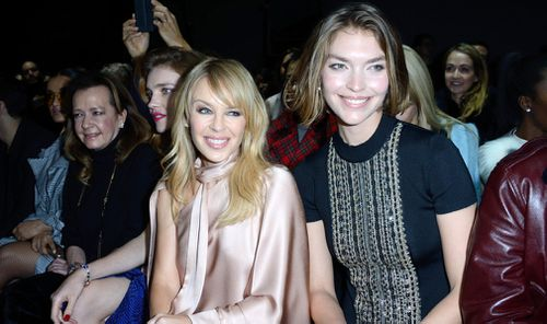 Kylie Minogue is a fan of Ralph & Russo, pictured here at their shows in Paris. (Getty)