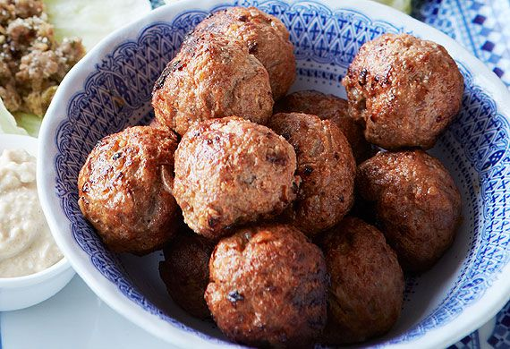 Middle Eastern lamb meatballs