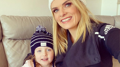 Erin Molan and her daughter.