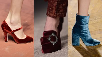 <p>Accessories got in on the act. Velvet lined the Mary Jane's at Dolce & Gabanna, embellished Alberta Ferretti's court shoes and had us lusting for the Dries Van Noten ankle boots.</p>