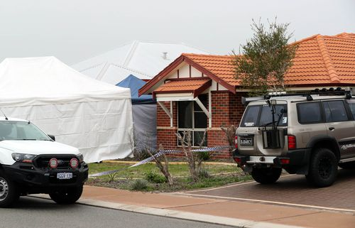 A mother and her two children were found dead inside the Ellenbrook home in Peth yesterday morning. Picture: AAP