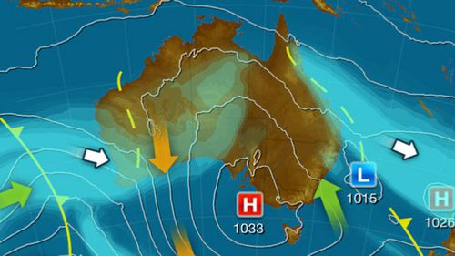 There are dual cold fronts hitting the country today.