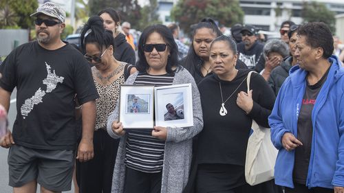 Family and friends of victims of the White Island eruption gathered in Whakatane this morning.
