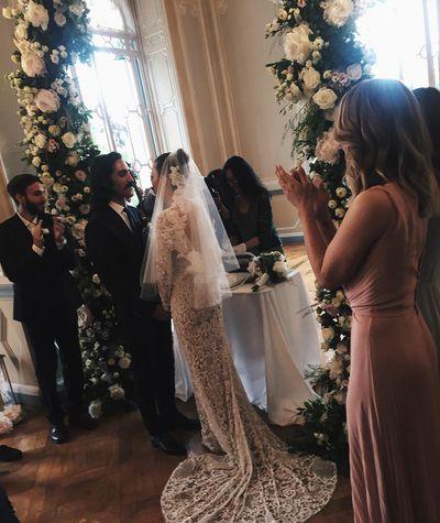 Eleonora Carisi's wedding