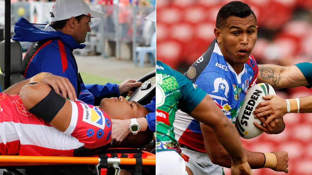 Saifiti brothers' sweet day as Newcastle Knights win against Canberra Raiders in NRL