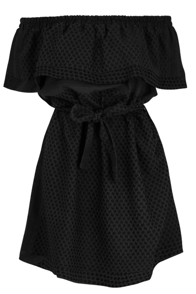 "<a href=""http://www.parlourx.com/styles/dresses/short-sleeve-off-shoulder-dress-02.html"" target=""_blank"">Dress, $295, Cecilie Copenhagen at Parlour X</a>"