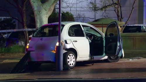 Police believe the 71-year-old driver suffered a medical episode when she veered off the path. (9NEWS)