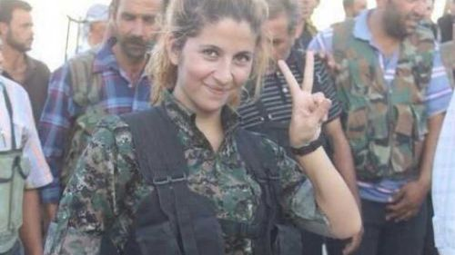 Iconic female warrior 'beheaded' on front line with ISIL