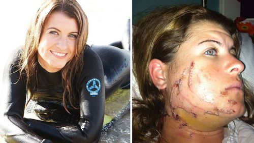 Lisa Mondy was wakeboarding off Port Stephens when attacked by a great white shark.