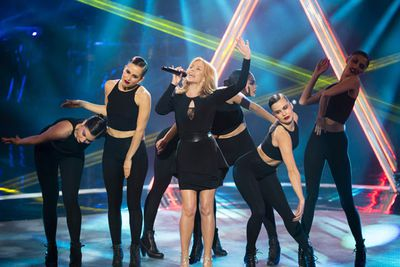 """The 46-year-old Aussie star also announced her 2015 Kiss Me Once tour of Oz. #TeamKylie #KissMeOnce #YesPlease<br/><br/>Presale tickets are available at <b><a target=""""_blank"""" href=""""http://www.visaentertainment.com.au"""">visaentertainment.com.au</a></b>. General release tickets will be available on <b><a target=""""_blank"""" href=""""http://www.ticketek.com.au"""">ticketek.com.au</a></b>."""