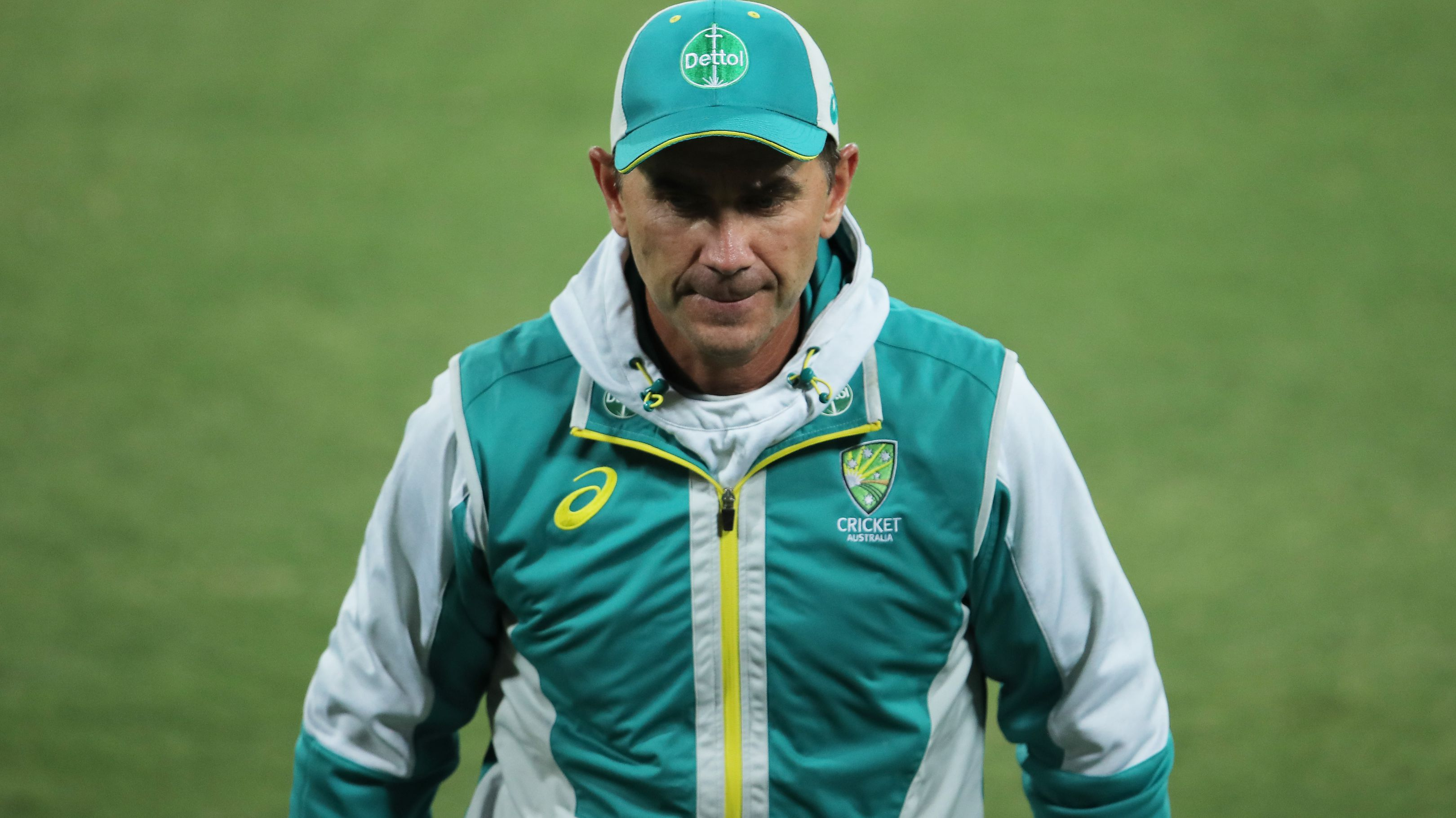 Australia coach Justin Langer after game one of the Twenty20 series.