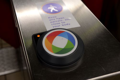 An Opal card reader at Town Hall station. Picture: AAP