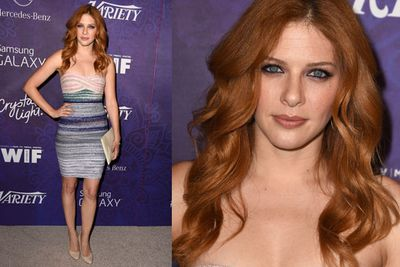 <i>Under the Dome</i>'s Rachelle Lefevre gavw Christina Hendricks a bit of competition for the hottest red head in the room award.