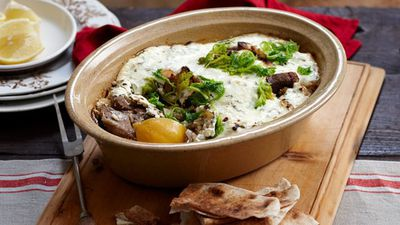 "<a href=""http://kitchen.nine.com.au/2016/05/16/16/25/baked-greek-lamb-stew"" target=""_top"">Baked Greek lamb stew<br> </a>"