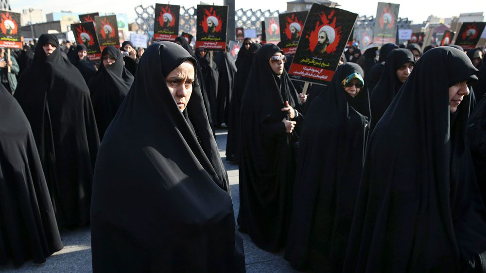 Women at Saudi soccer games for first time