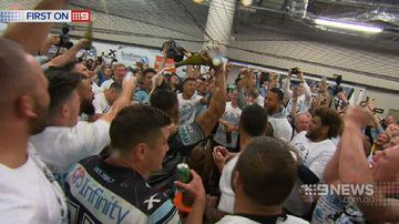VIDEO: Sharks' families ride emotional rollercoaster in grand final