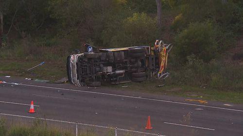 Kangy Angy M1 motorway truck crash