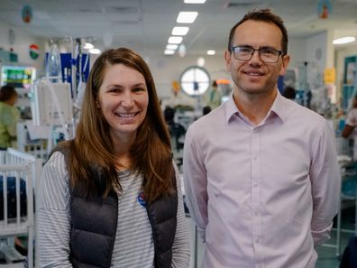 Emily with Dr Tim Schindler.