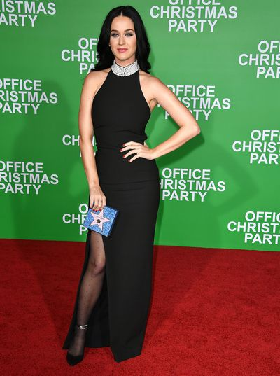 Katy Perry arrives at the Premiere Of Paramount Pictures' 'Office Christmas Party' at Regency Village Theatre on December 7, 2016 in Westwood, California.