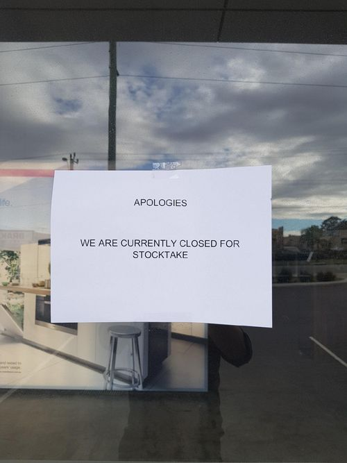 Customers were surprised to find stores closed this morning. (9NEWS)