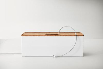 "<a href=""http://www.ikea.com/au/en/catalog/products/40203958/"" target=""_blank"">Ikea Kvissle Cable Management Box, $9.99.</a>"