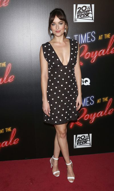 Actress Dakota Johnson attends the 'Bad Times At The El Royale' New York screening at Metrograph on September 27, 2018 in New York City.
