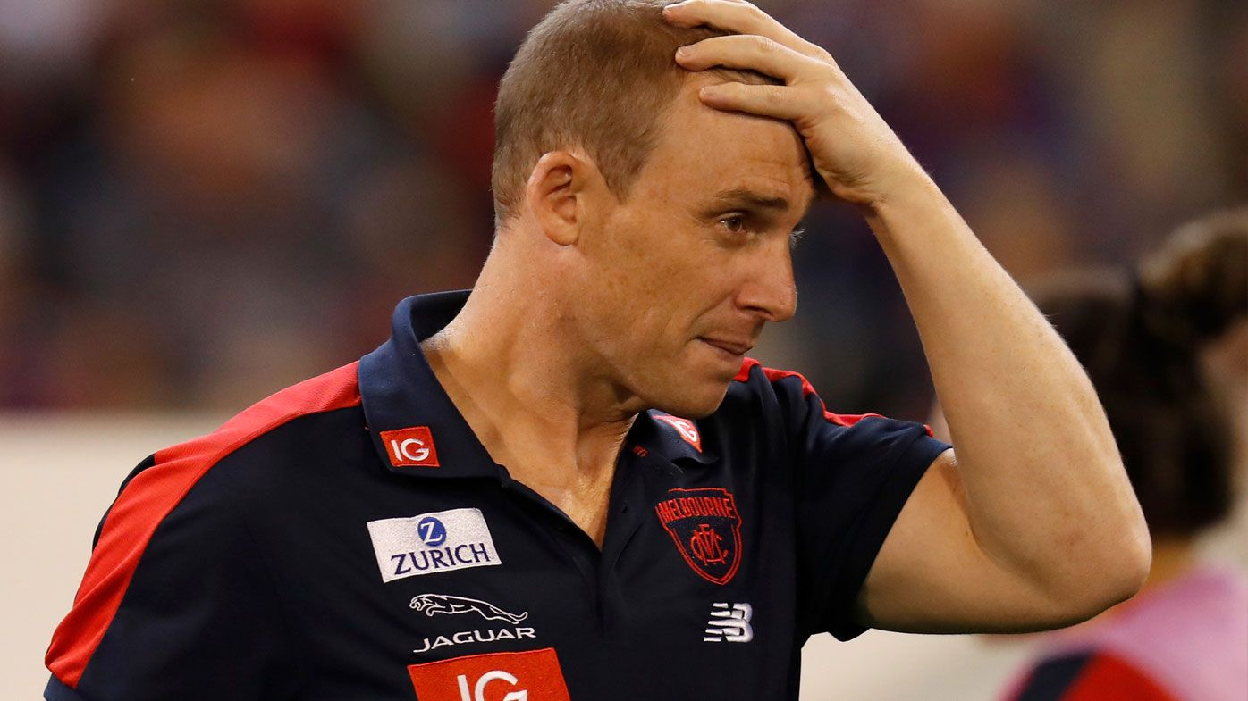 AFL: Demons coach Simon Goodwin sends scare through club with dizzy spell