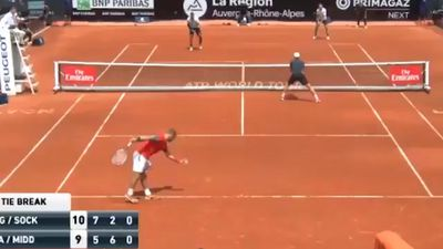 Nick Kyrgios lands pre-French Open doubles crown with Jack Sock in Lyon