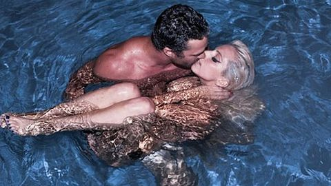 Pic: Lady Gaga swims naked with boyfriend Taylor Kinney