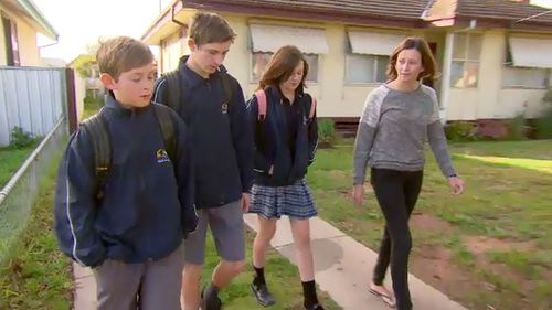 Rhiannon Glare, 18, vows to raise her three younger siblings, Lochie, Hayden and Tegan, after losing their parents in a crash. (ACA)