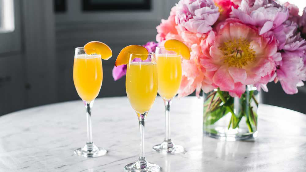 Summer peach bellini by Ben Varela for The Royal Hotel Paddington